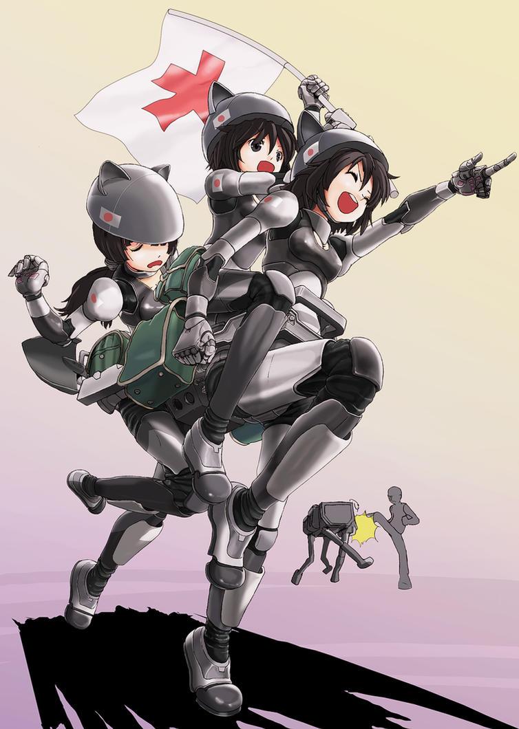 Cyborg Girl Anime 001 by Pepekas on DeviantArt