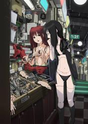 Cyborg Girl Anime 011 by Pepekas