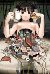 Cyborg Girl Anime 020 by Pepekas