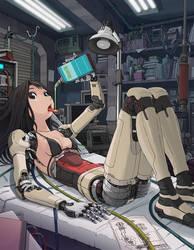 Cyborg Girl Anime 016 by Pepekas