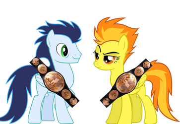 Spitfire and Soarin Tag Team Champions by Mirai-Digi