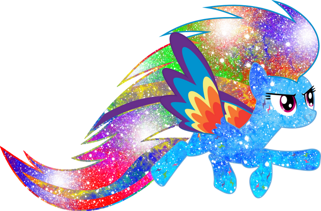 Galaxy Rainbow Power Rainbow Dash by DigiTeku