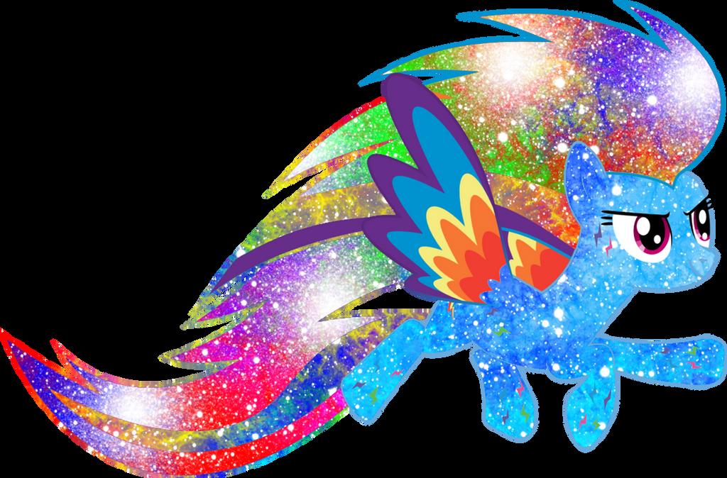 Galaxy Rainbow Power Rainbow Dash by DigiRadiance