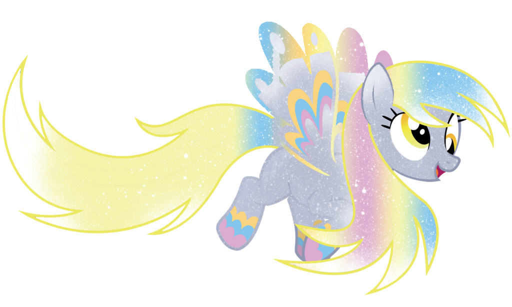 Galaxy Rainbow Power Derpy Hooves by DigiRadiance