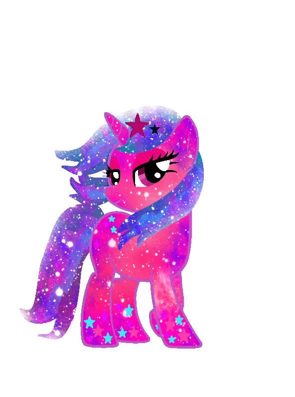Galaxy Rainbow Power Kawaiistar by DigiRadiance
