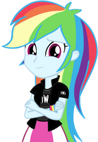 Human Rainbow Dash (Nwo Shirt) by Mirai-Digi