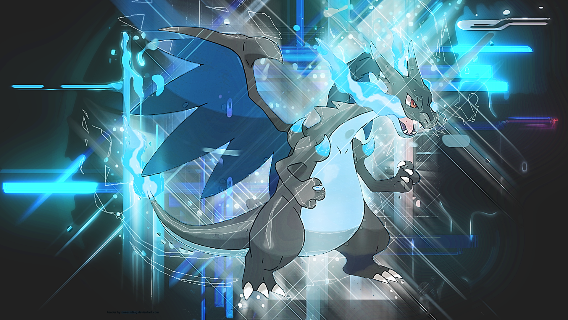 Mega Charizard X Wallpaper By Mirai Digi
