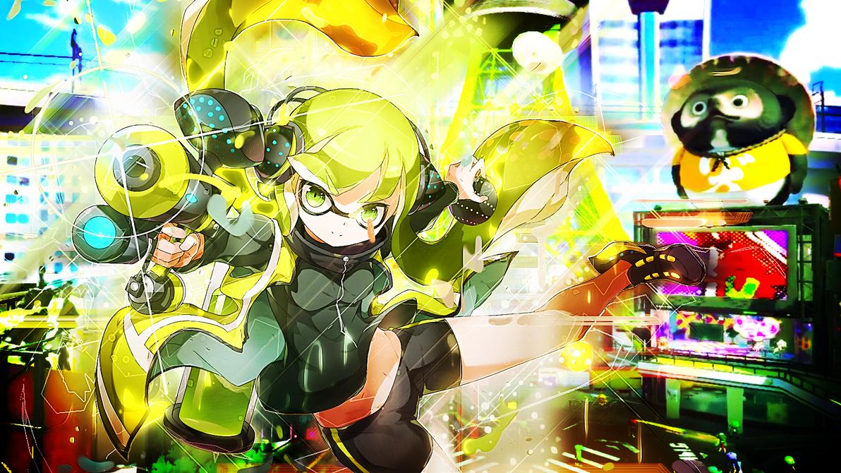 Splatoon Green Inkling Wallpaper (Version 2) by Mirai-Digi ...
