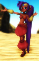 MMD Shantae: The Half Genie Hero by Mirai-Digi