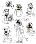 Portal Anthrodroid sketches by AndroidHalo