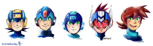 Rockman and costars by bowlersandtophats