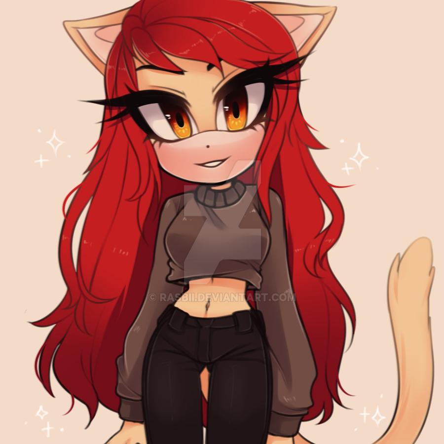 Anime Redhead Cat