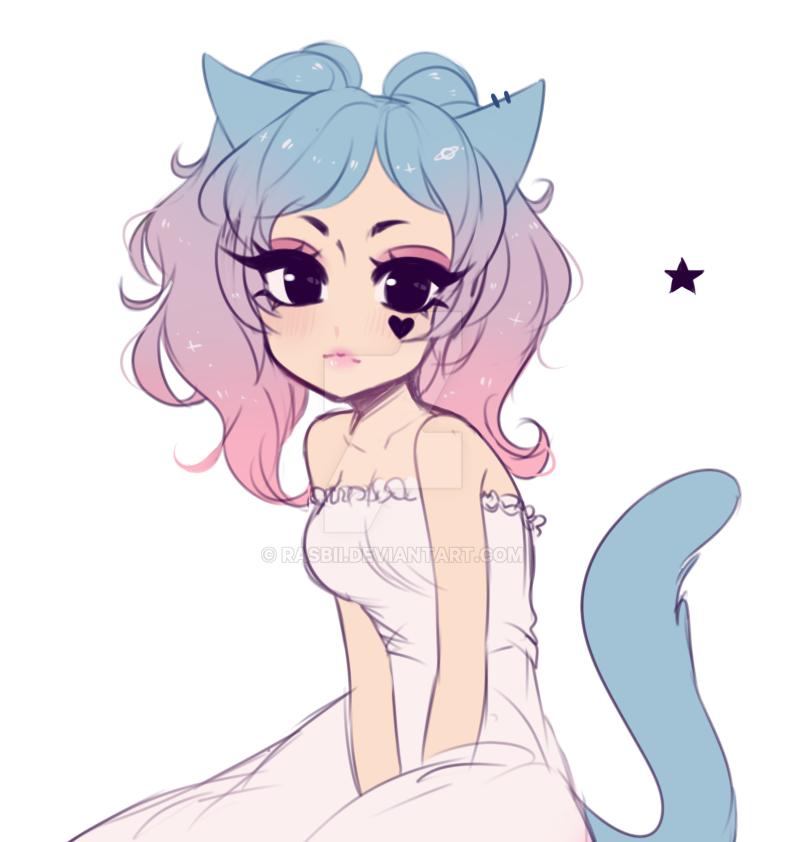 Anime Cat Girl Outlinefreee