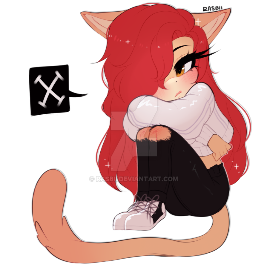 Anime Cat Drawings Girl
