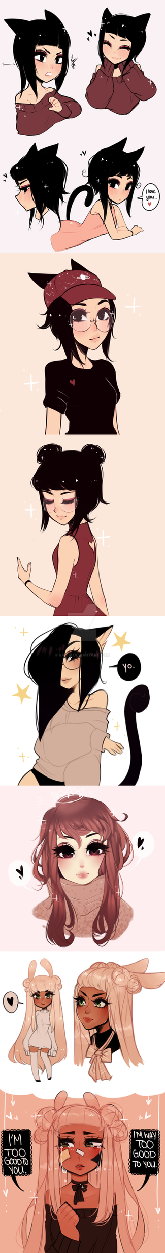 even more doodle dump by Rasbii