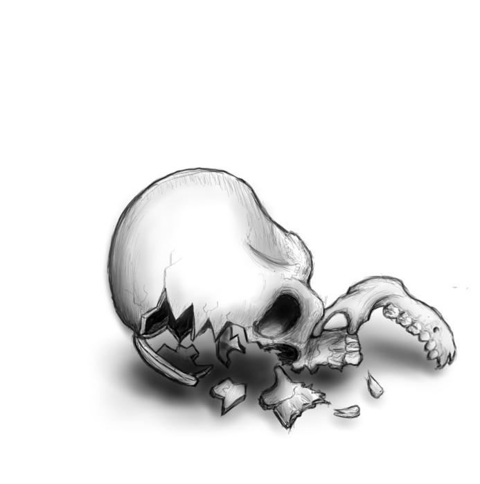 Frackingstein Broken_skull_1_by_wlbrndl1206-d5als33