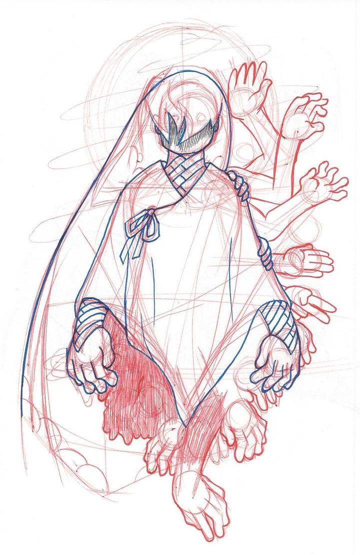 Ideal Xiaxia Avatar Sketch by TheNightmareNursery