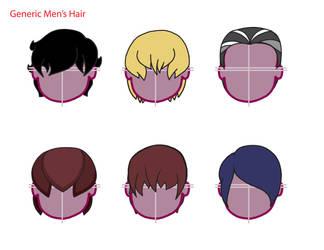 Generic Men's Hair 01 by TheNightmareNursery