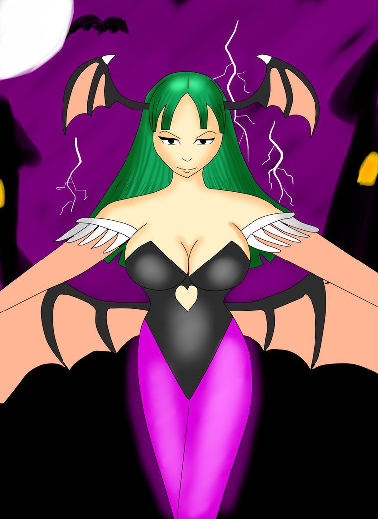 Le coin des dessinateurs Morrigan__darkstalkers__by_xxyugo05xx-daprb94