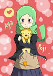 Aya and Poji by SketsaMuslim