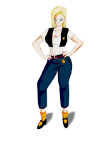 Commision Android 18  for Maron103 by Dannyjs611