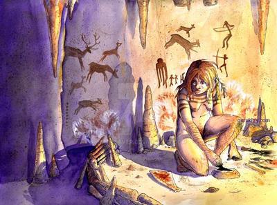 Neanderthal Cave Studio by jeriweaver