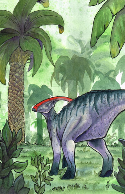 Parasaurolophus by jeriweaver