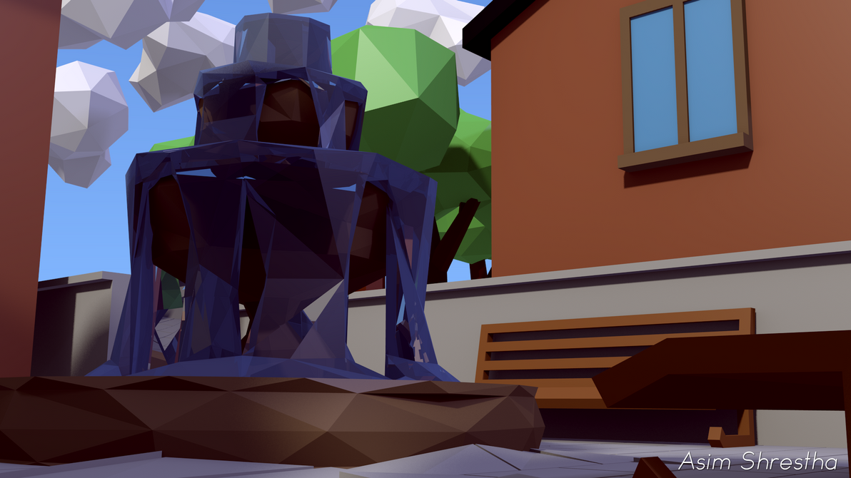 Low-Poly Park by asimshrestha2