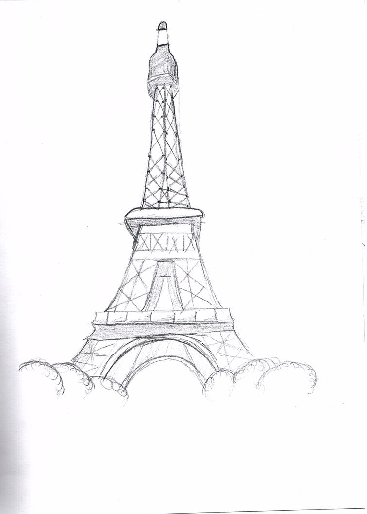 Eiffel Tower Pencil Sketch The eiffel tower by