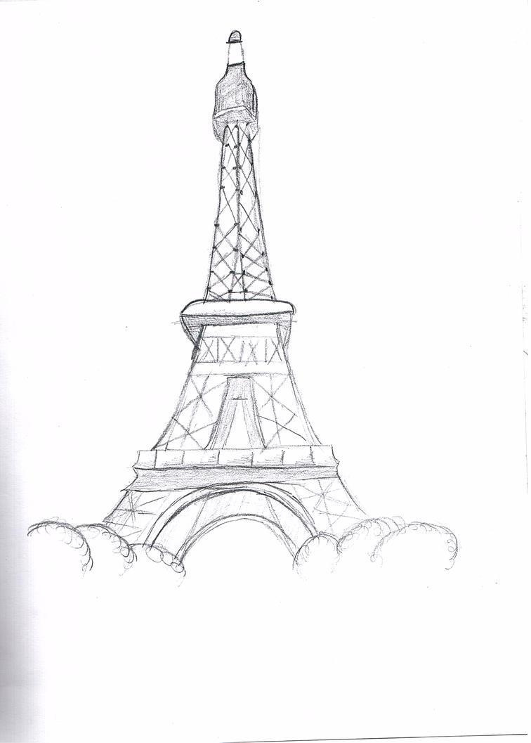 Eiffel Tower Pencil Sketch The eiffel tower by