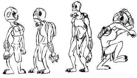 Ewo cartoon poses