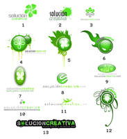 logotypes of solucioncrativa by hecrazy
