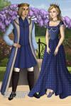 Caspain X and Liliandil by loverofbeauty