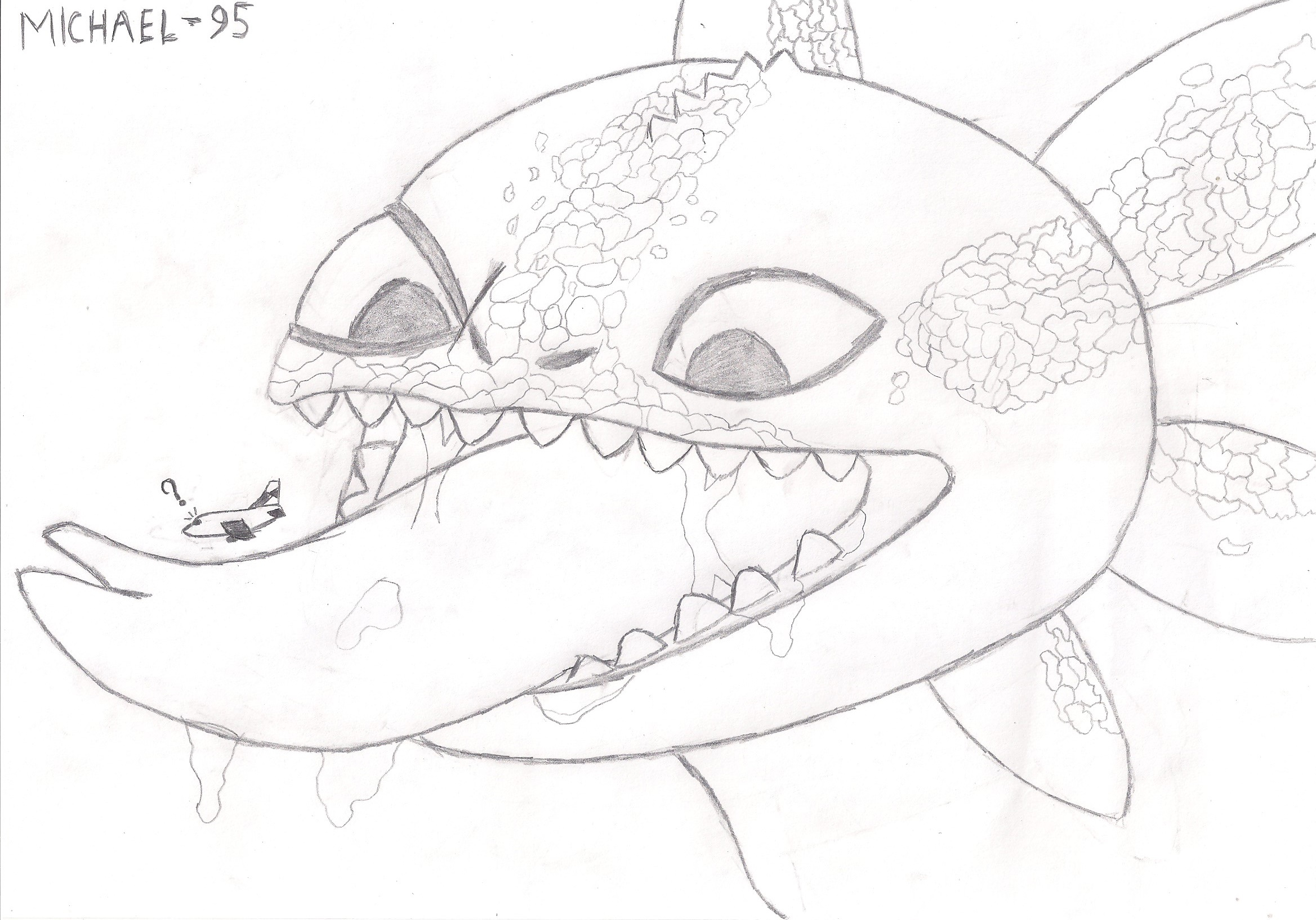 Toothless vore