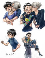 Yuri on Ice - Coloured Sketches by x-Tsuka-x