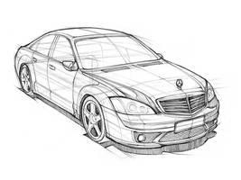 Car Sketch Practice by darkdamage