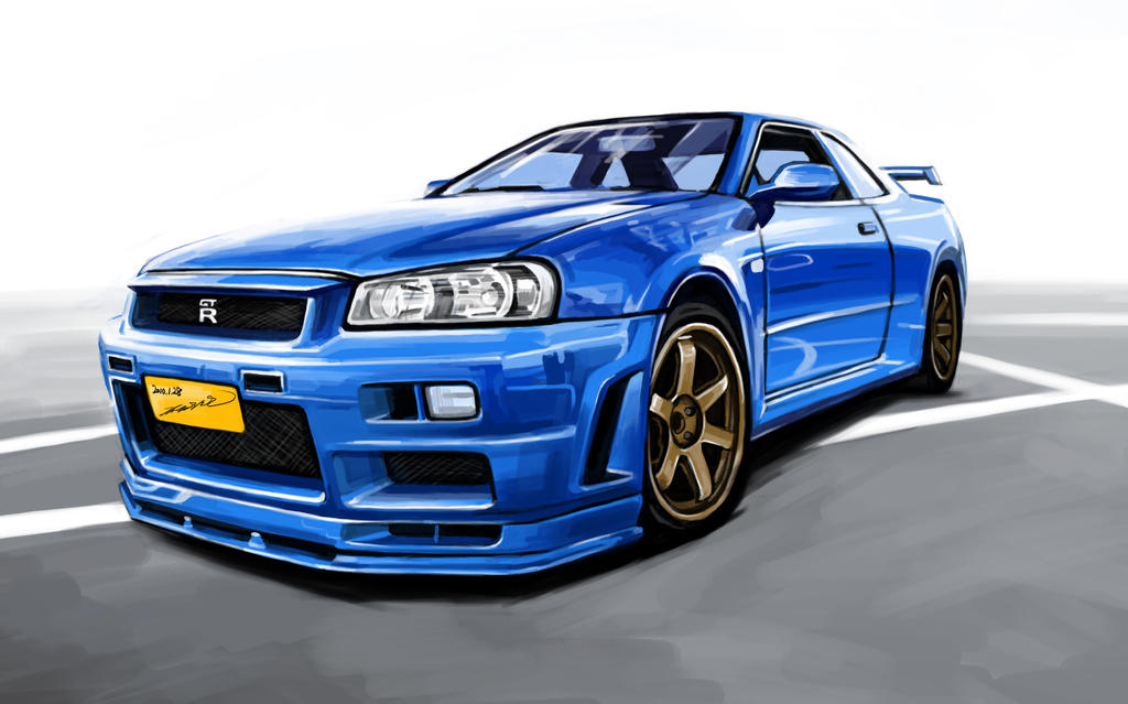 Nissan Skyline Sketch Nissan Skyline Gtr R34 by