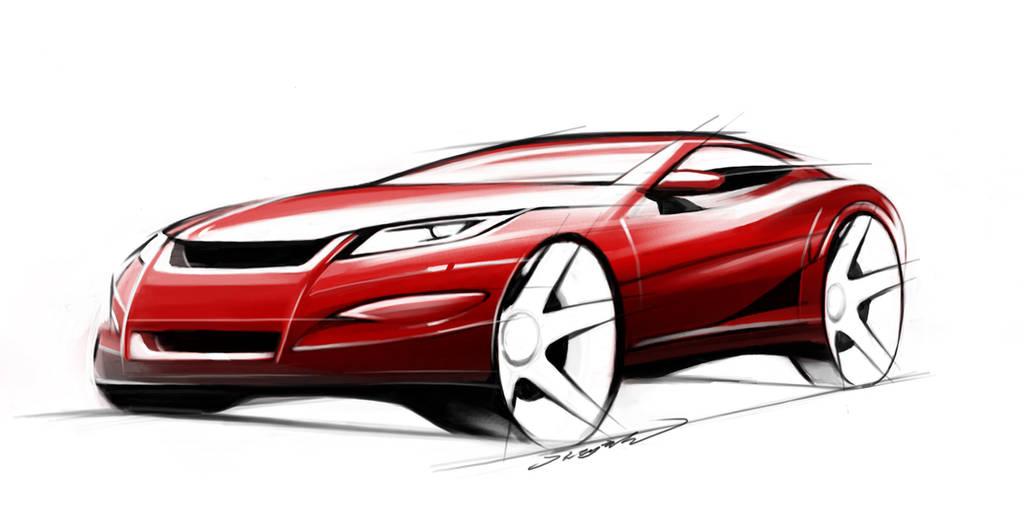 Car Design Sketch Practice by darkdamage