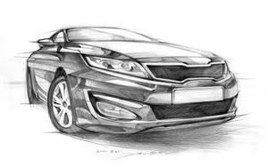 KIA K5 Car Sketch Practice by darkdamage