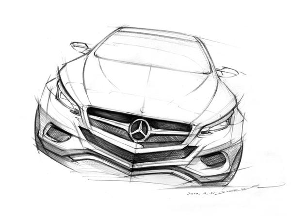 Car sketch practice by darkdamage