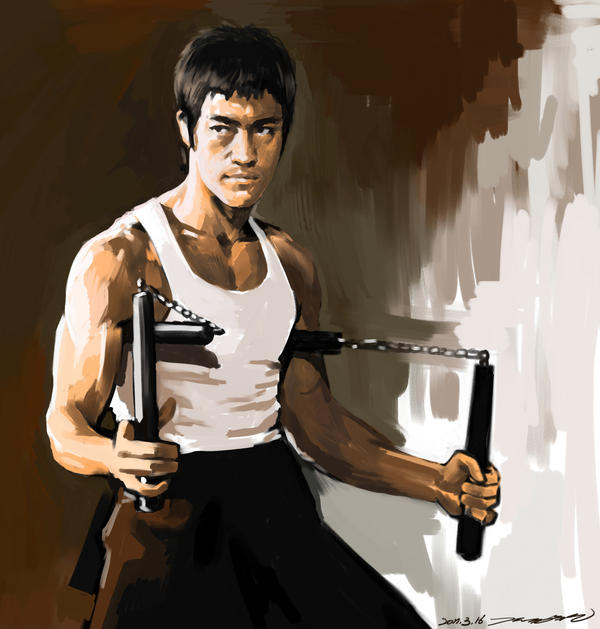 Bruce Lee theWay of the Dragon by darkdamage