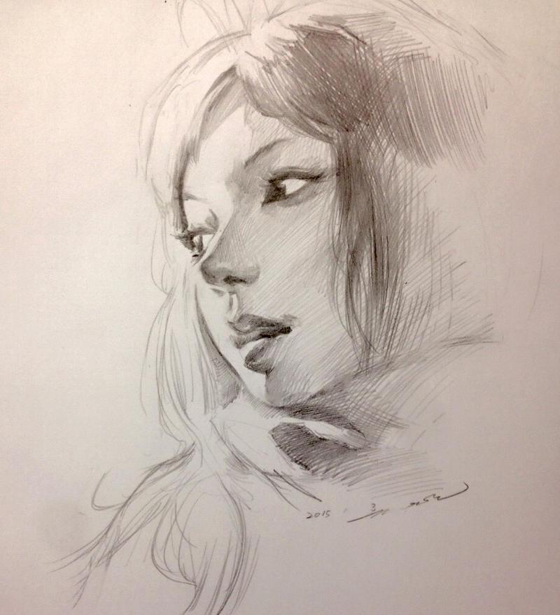 Girl Portrait Practice by darkdamage