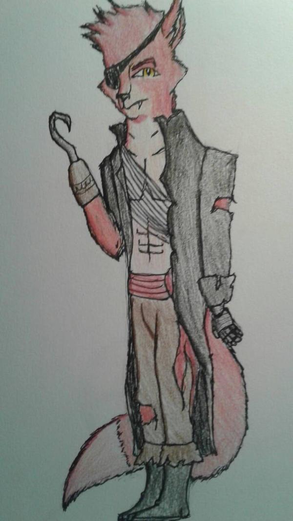 Foxy the pirate  by Phantomraccoon