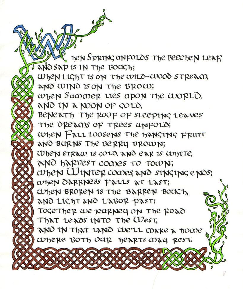 Tolkien passage by hawkthrower