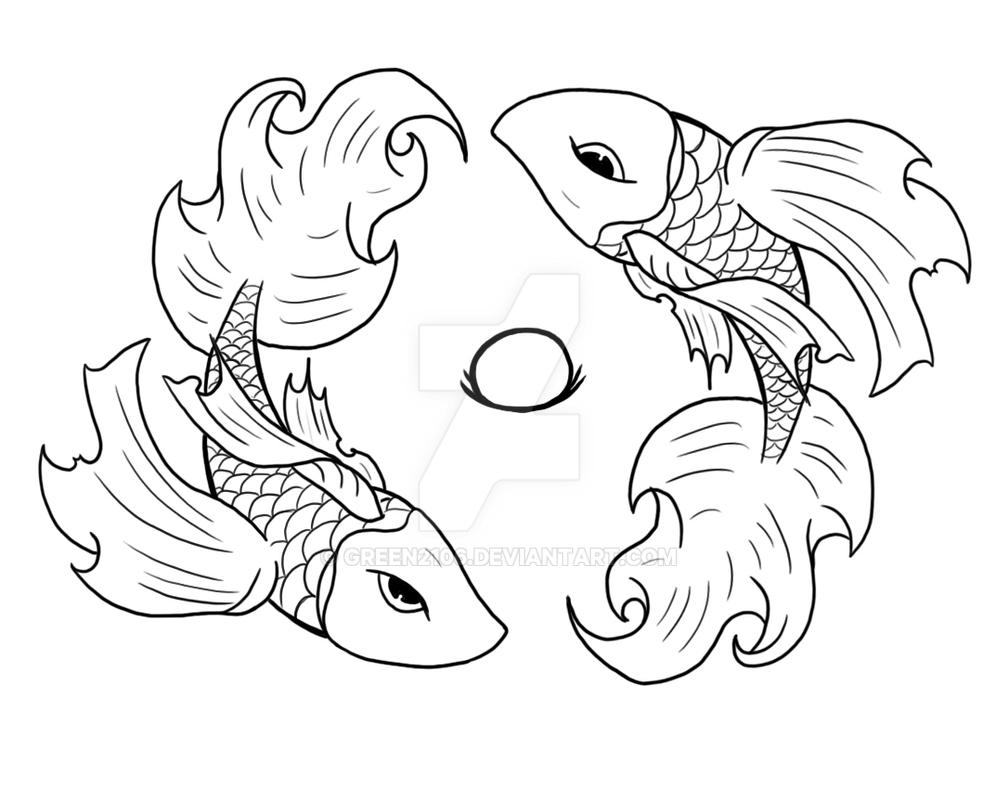 Betta fish by green2106 on deviantart for Betta fish coloring pages