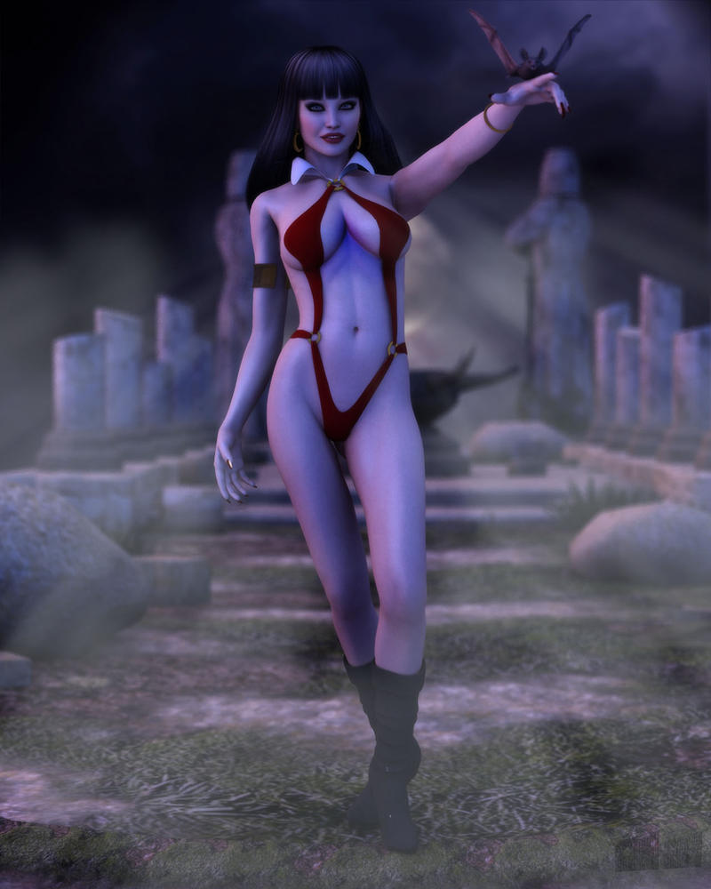 Vampirella and Her Pet by twosheds1