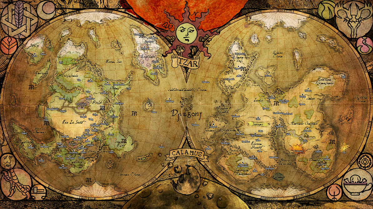 World Map of Thule by MadMuffin on DeviantArt