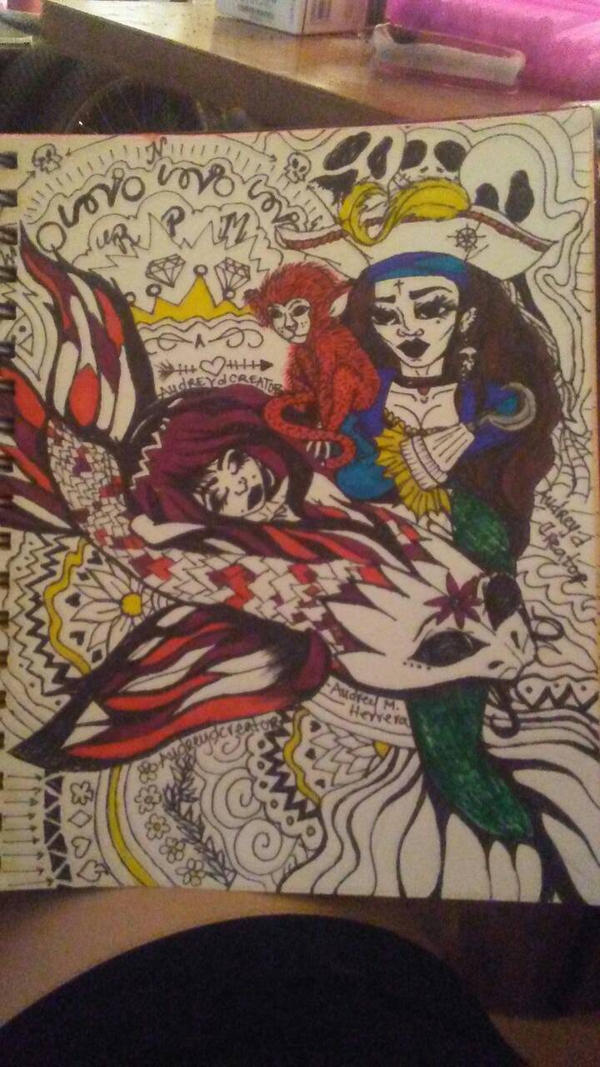 pirates and the mermaids by Audreydcreator