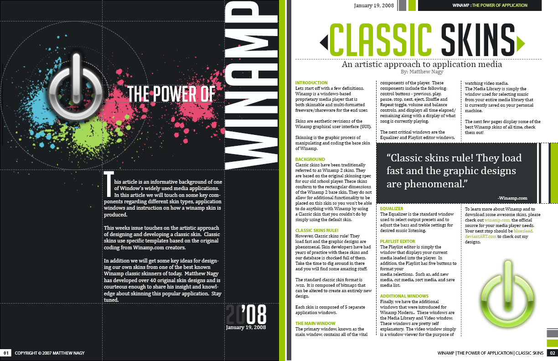winamp magazine spread by mattnagy on deviantart. Black Bedroom Furniture Sets. Home Design Ideas