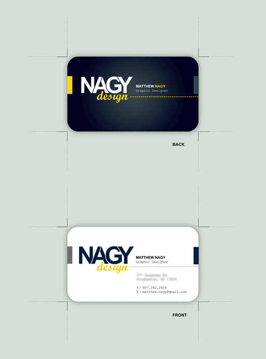 blueslaad Business Card by mattnagy